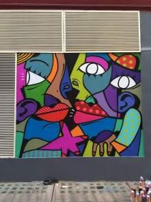 Hunto, Street Art Mural, Carnaby Street, Soho London 2017.