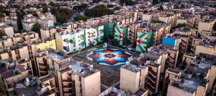 Boa Mistura latest street art 'NIERIKA' in Guadalajara, Mexico 2017. Photo Credit Miguel Azanza
