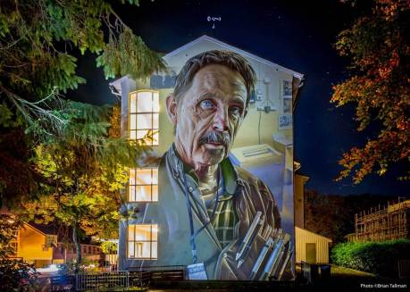 Smug and Nuart, Street art Attende, Norway 2017. Photo Credit Brian Tallman