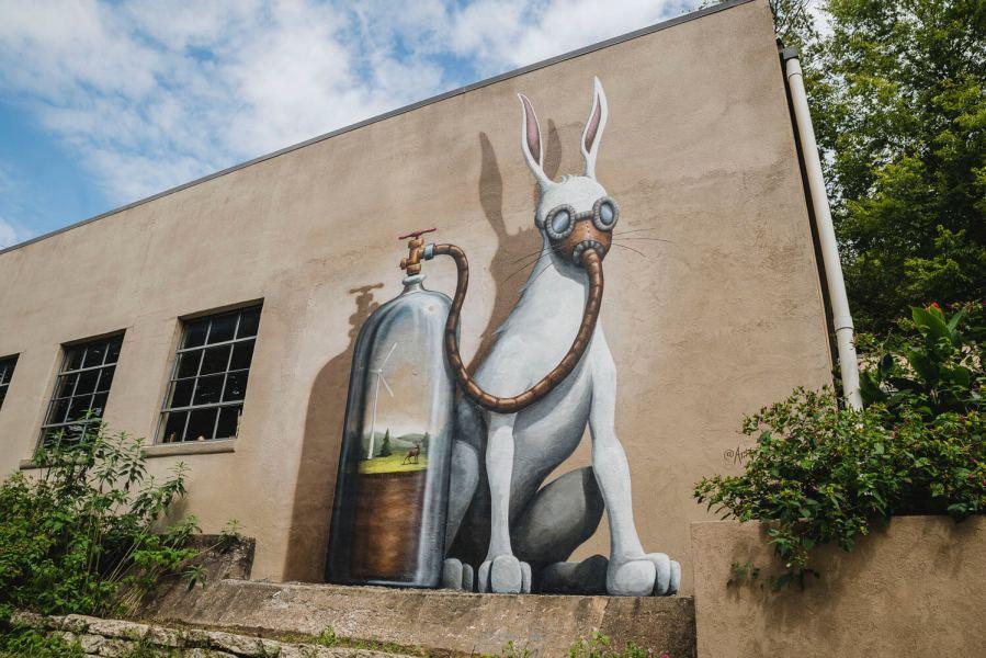 Jason Jones, Green Candy Urban Art, Fayetteville, Arkansas 2017. Photo Credit JustKids
