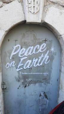 Banksy, Peace on Earth, The Walled Off Hotel, Bethlehem, West Bank 2017. Photo Credit @alaa_taxi_driver_bethlehem