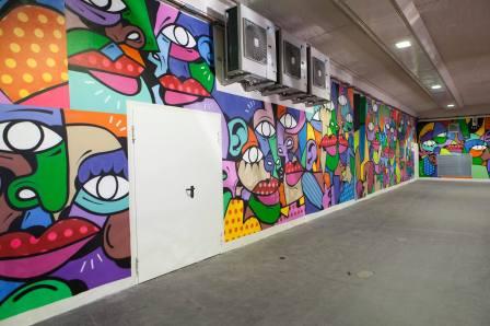 Hunto, Gare De Lyon Street Art, Paris 2018. Photo credit Claude-Artier