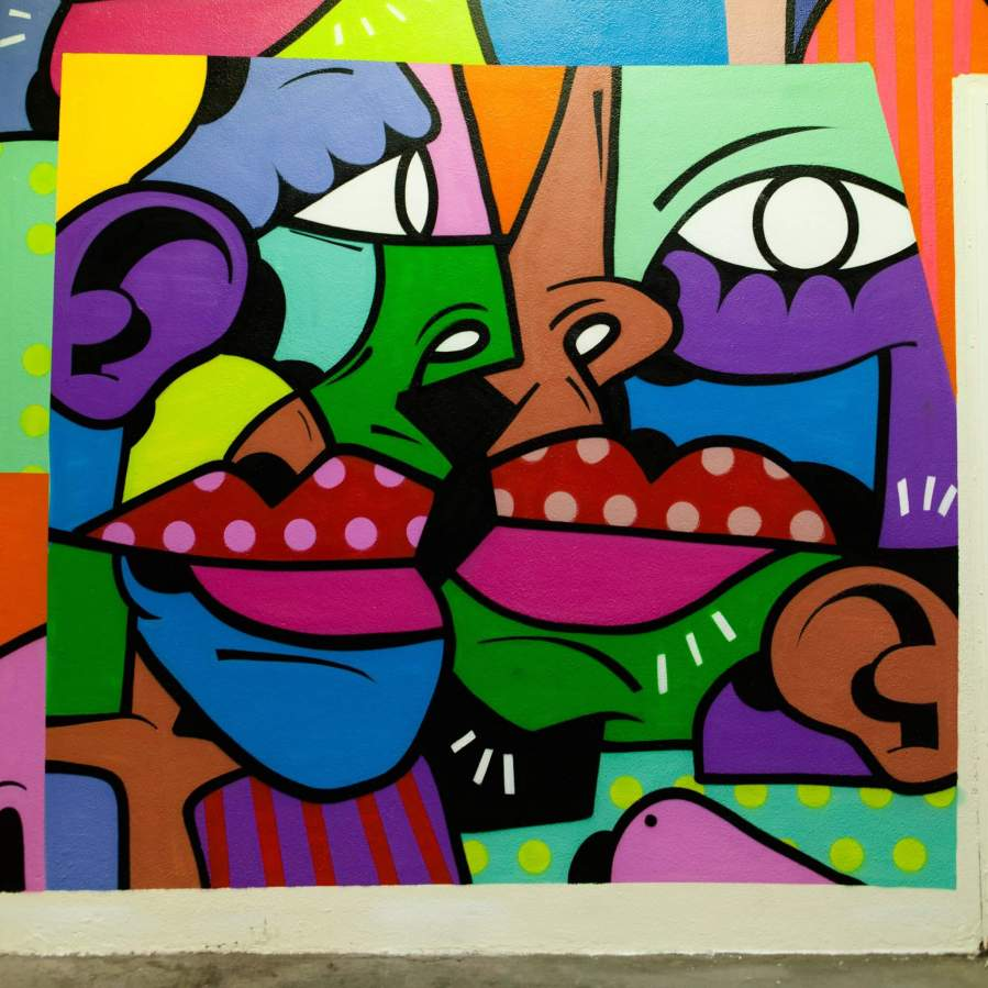 Hunto, Gare De Lyon Street Art, Paris 2018. Photo credit Claude-Artier