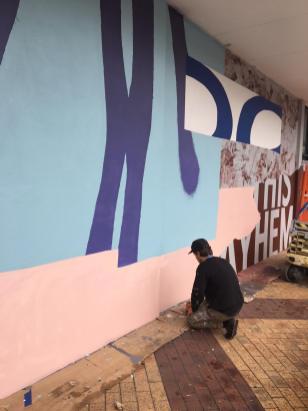 Tristan Kerr, The Big Picture Fest, Street Art Festival, Frankston, Victoria, Melbourne. Photo Credit @vanstheomega