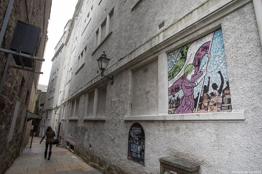 Artist Carrie Reichardt, Nuart Aberdeen 2018. Photo Credit Ian Cox