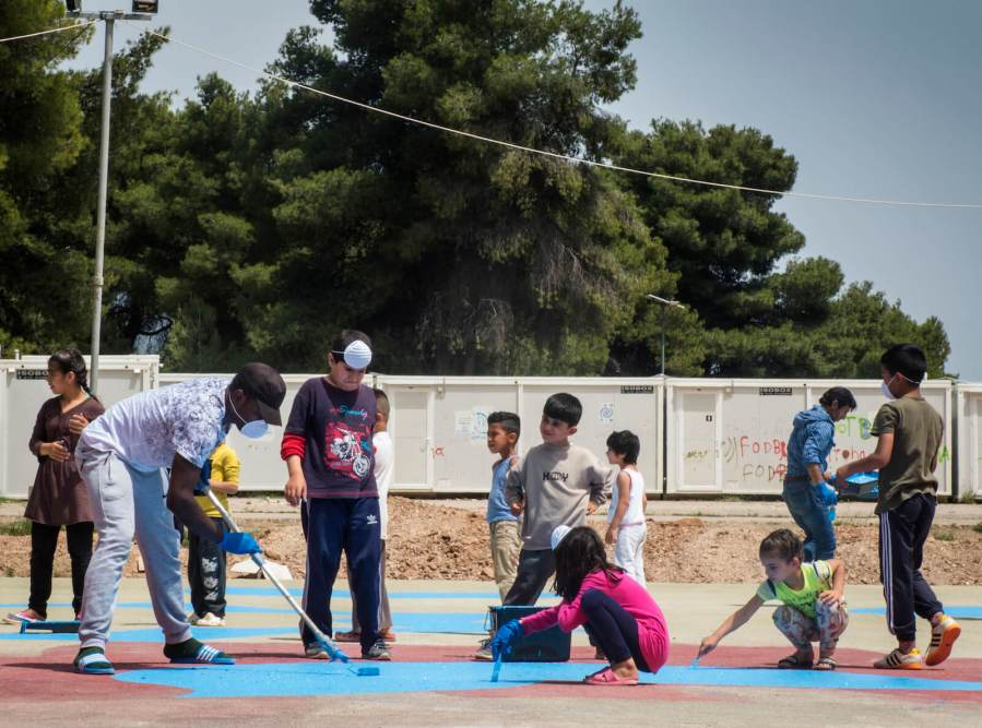 Boa Mistura, Ritsona Refugee Camp, Greece 2018. Photo credit Boa Mistura