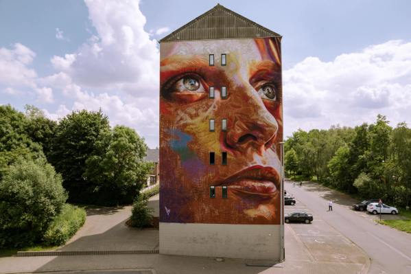 David Walker, Kaleidoscope Street Art Festival, Dendermonde, Belgium 2018. Photo Credit Henrik Haven