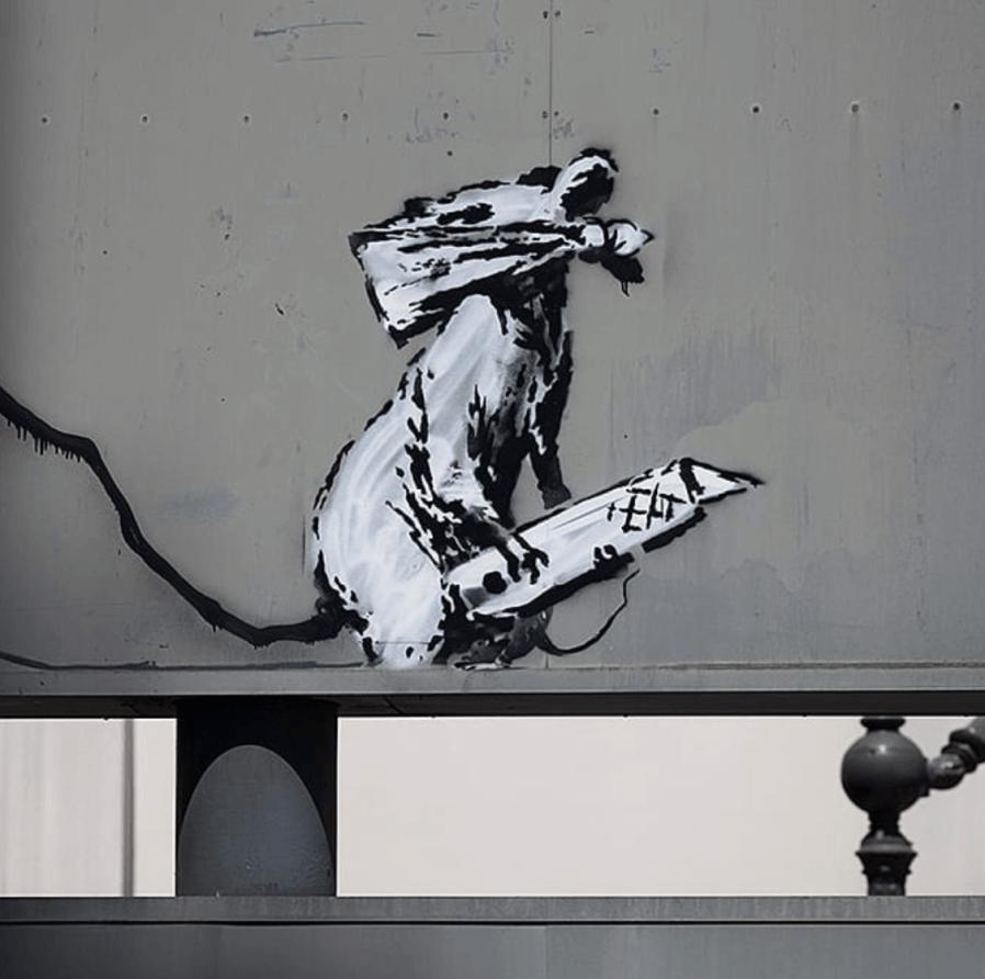Banksy, Stencil art, Paris 2018. Photo credit Banksy