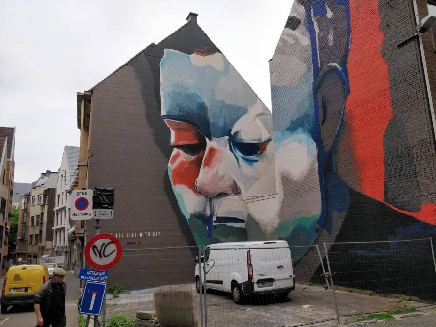 Larsen Bervoets, Street Art Antwerp, Belgium