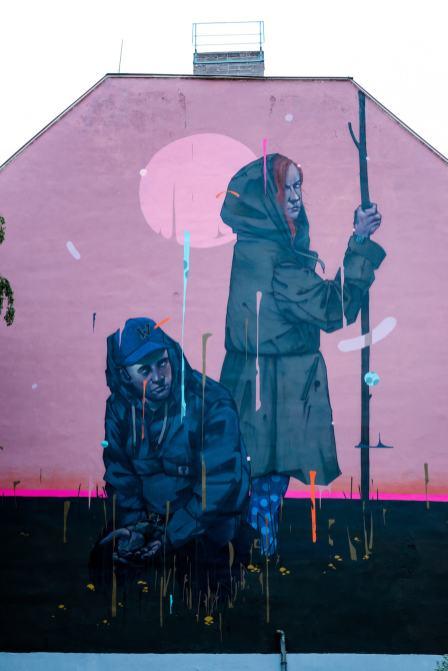 Mr Woodland, Berlin Mural Fest 2018. Photo Credit Berlin Mural Fest