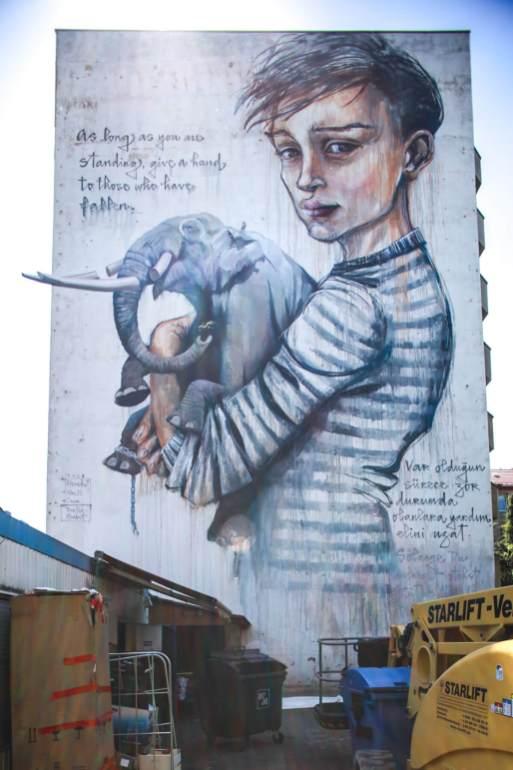 Onur, Wes21 and Herakut, Berlin Mural Fest 2018. Photo Credit Berlin Mural Fest