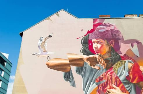 Telmo Miel and James Bullough, Berlin Mural Fest 2018. Photo Credit Berlin Mural Fest