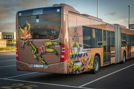 Juane, Street Art Bus, Stavanger 2018. Photo Credit Brian Tallman