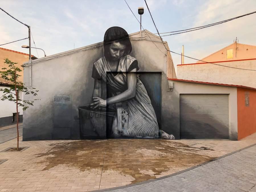 Cristian Blanxer, Asalto Urban Art Festival, Alfamén 2018. Photo Credit Asalto