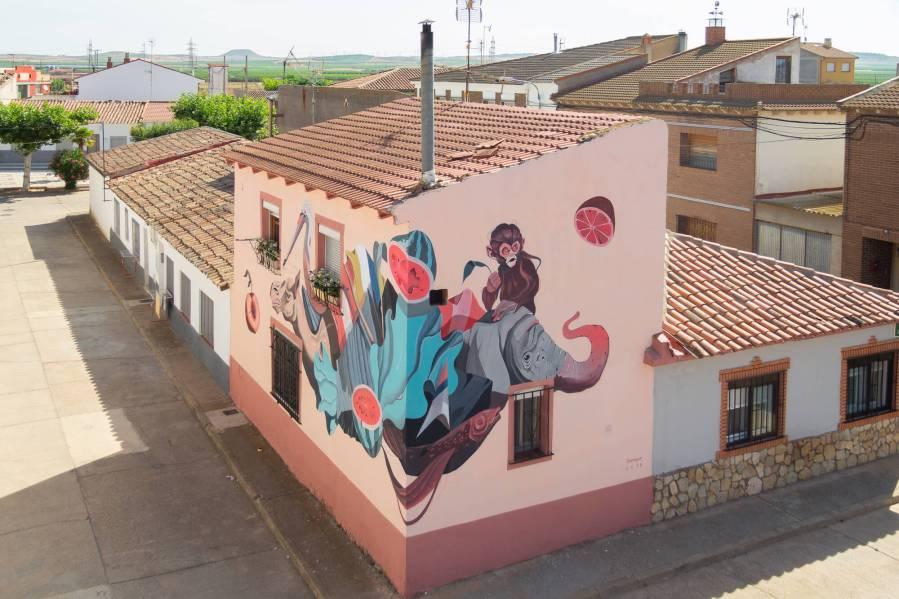 Twee Muizen, Asalto Urban Art Festival, Alfamén 2018. Photo Credit Asalto