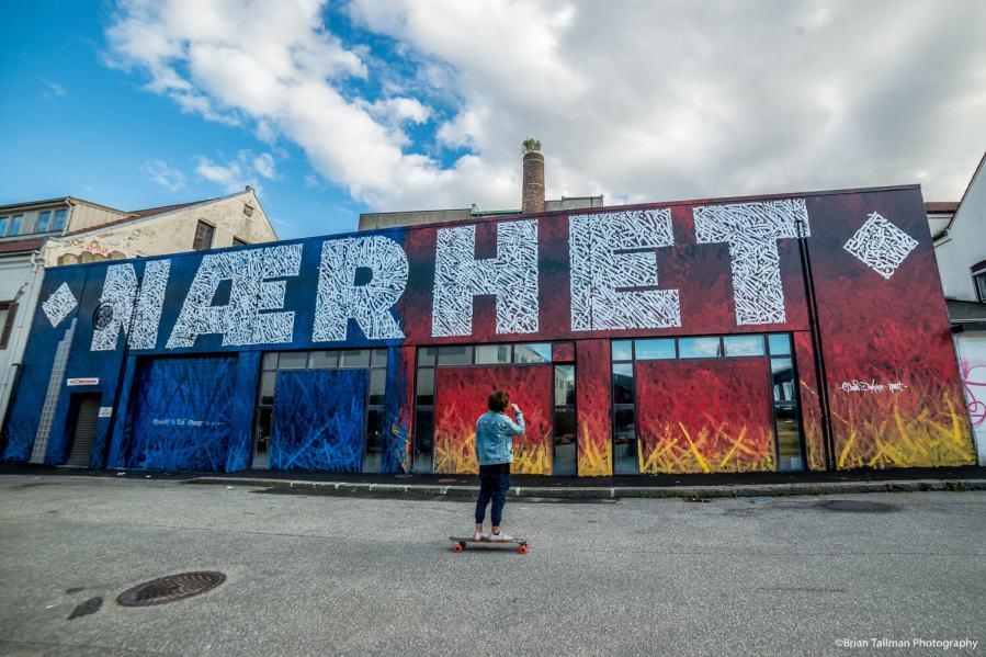 Said Dokins, Nuart Festival, Stavanger 2018. Photo Credit Brian Tallman