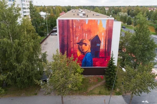 Andrew Hem, UPEA Street Art Festival, Finland 2018. Photo Credit Hannu Uusitalo