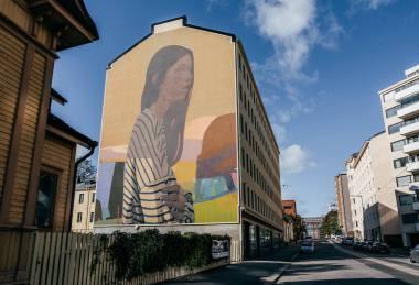 Sainer, UPEA Street Art Festival, Finland 2018. Photo Credit Iiro Rautiainen