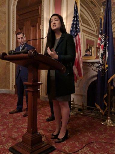 Activist Amanda Nguyen, Senate Bill Passing