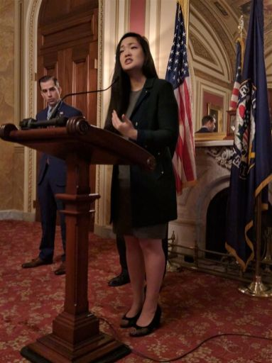Activist Amanda Nguyen, Senate Bill Passing