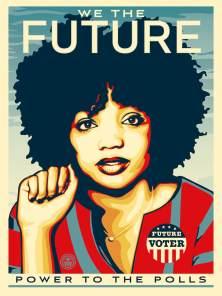 Activist Activist Winter BreeAnne Minisee, Poster credit Shepard Fairey