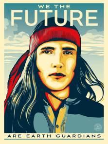 Activist Xiuhtezcatl-Martinez, We The Future. Poster Credit Shepard Fairey