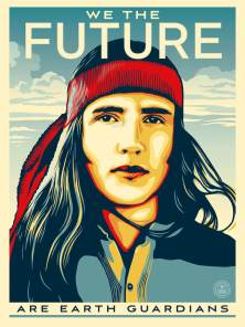 Activist Xiuhtezcatl-Martinez, We The Future. Poster Credit Shepard Fairey