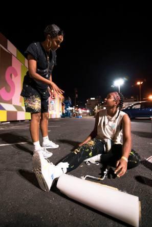 Lakwena and Abimaro, Life is Beautiful 2018. Downtown Las Vegas. Photo Credit Justkids