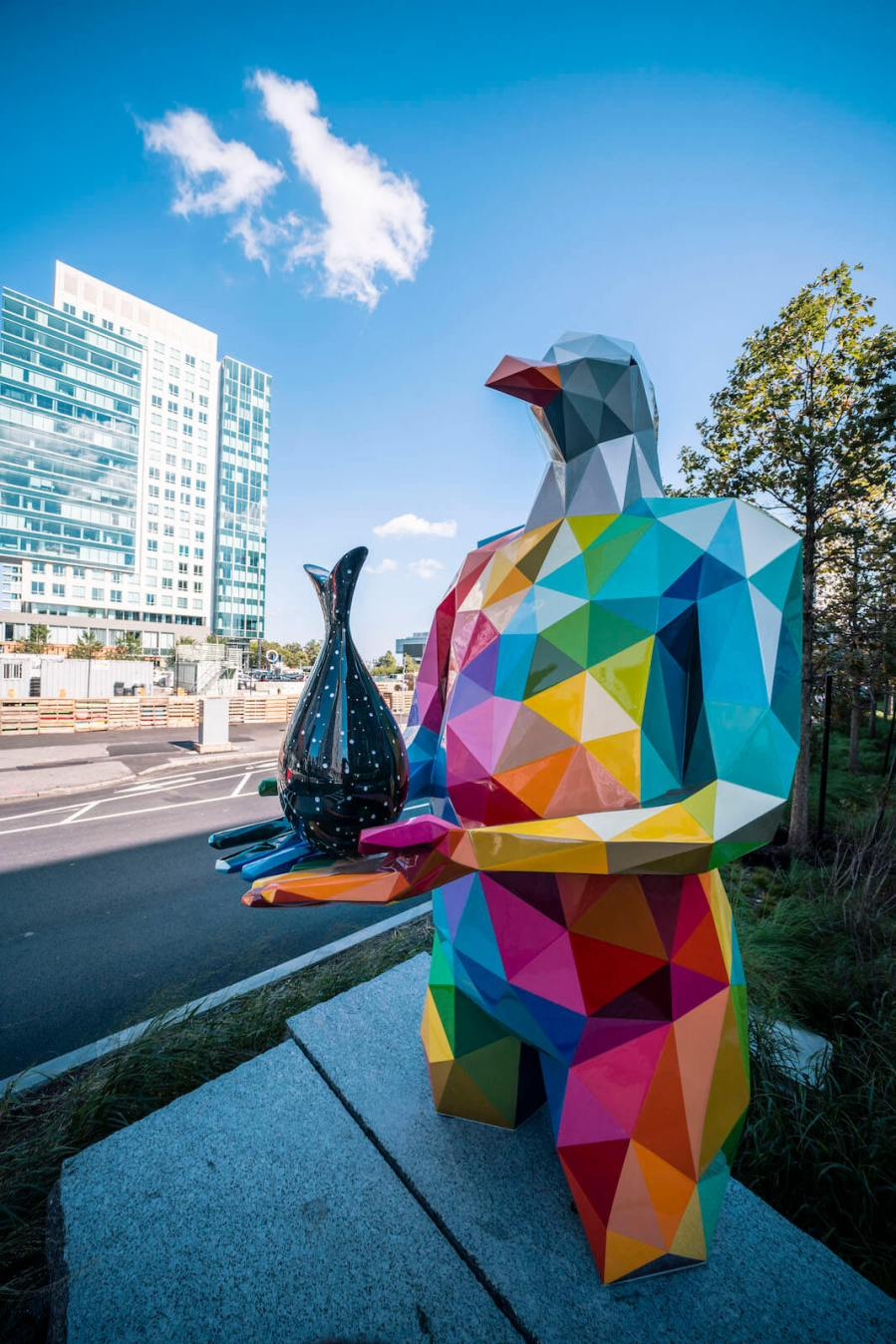 "Okuda, Mythology Two, ""Air, Sea, Land "", Boston Seaport 2018. Photo Credit Justkids"