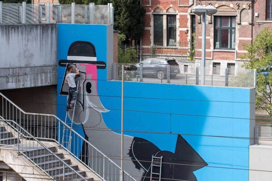 Joachim, Street Art at Dizzy New Heights 2018