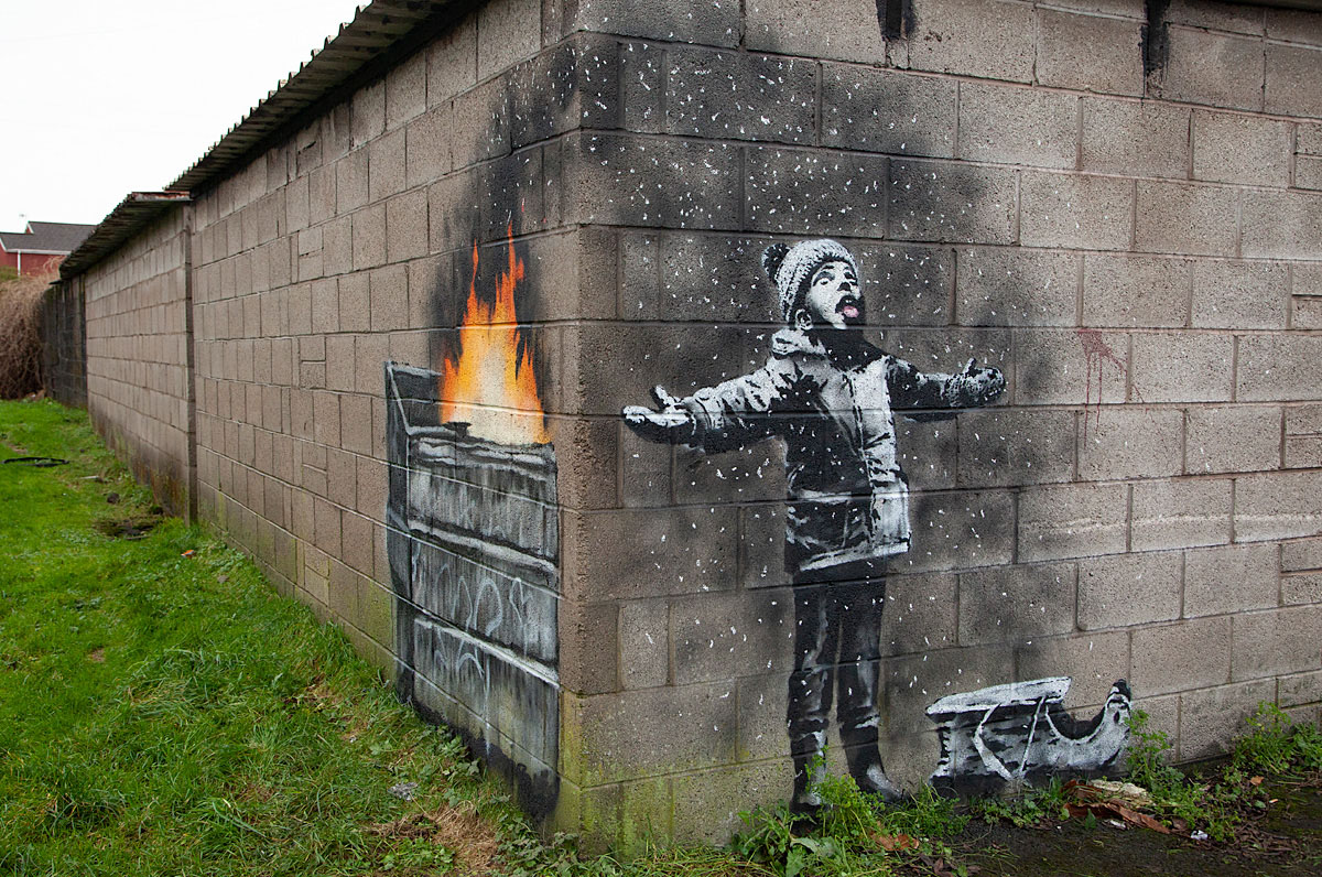 Banksy's latest Mural
