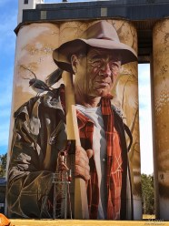 Smug – South Australia Silo Art Trail –Wirrabara were completed in 2018. Photo Credit Annette Green
