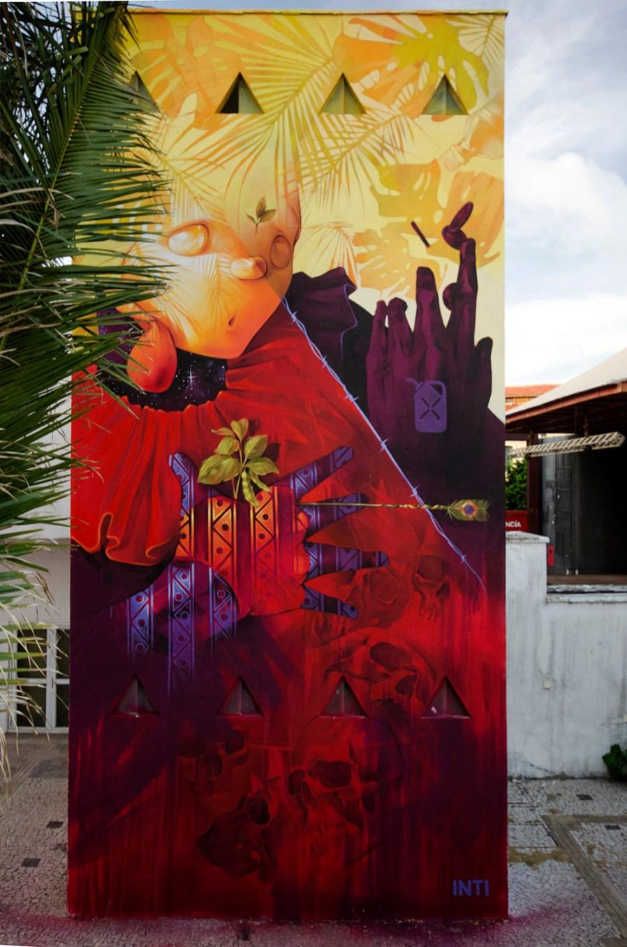 "INTI, Street Art ""Natural resources 2"" Mural, Brazil 2019. Photo Credit INTI"