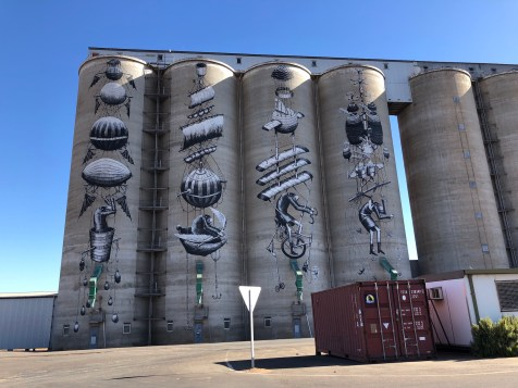 Phlegm – PUBLIC Silo Trail of Western Australia –Northam were completed in March 2015. Photo Credit Annette Green