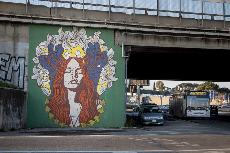 GRAArt-street-art-mural-Grande-Raccordo-Anulare-ROME-Diamond-pc-Valentino-Bonacquisti