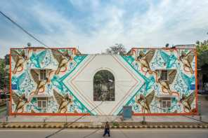 Sam Lo, Lodhi Art Festival, Delhi 2019. Photo credit Akshat