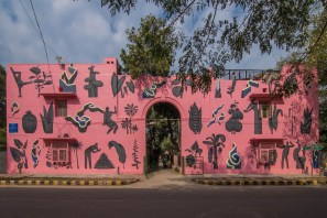 Sameer Kulvoor, Lodhi Art Festival, Delhi 2019. Photo credit Pranav Gohil