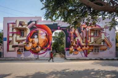 Bond Truluv, Lodhi Art Festival, Delhi 2019. Photo credit Pranav Gohil