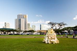 Aaron Del La Cruz, POW! WOW! Hawaii 2019. Photo Credit Brandon Shigeta