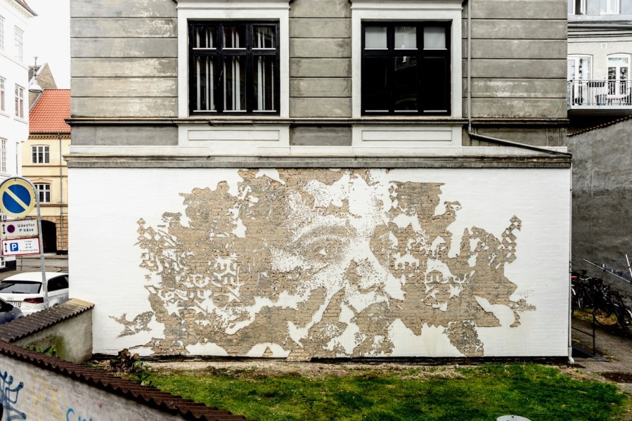 """VHILS,""""Out in the Open"""", Aalborg 2019. Photo Credit VHILS studio"""