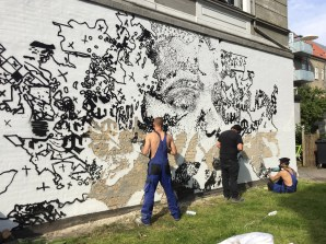 "VHILS,""Out in the Open"", Aalborg 2019. Photo Credit Kirk gallery"