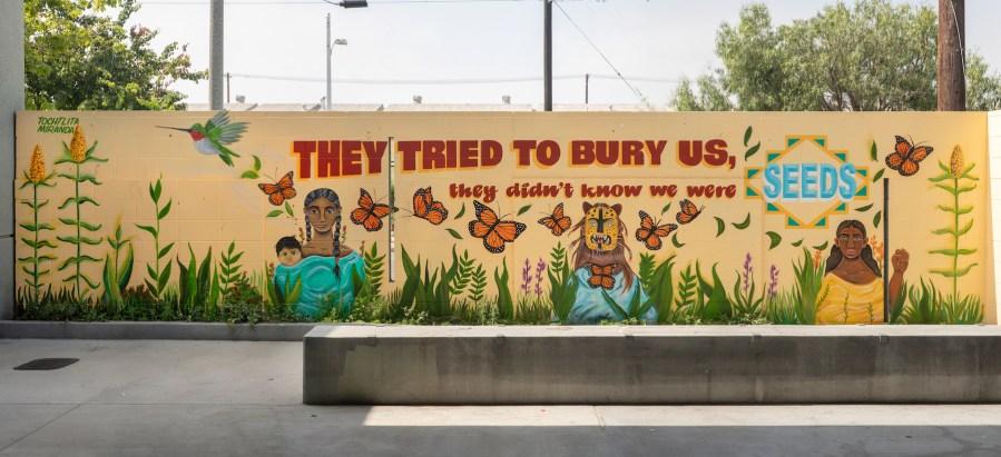 Tochlita, Maya Angelou Mural Festival, Los Angeles 2019. Photo Credit Static Medium