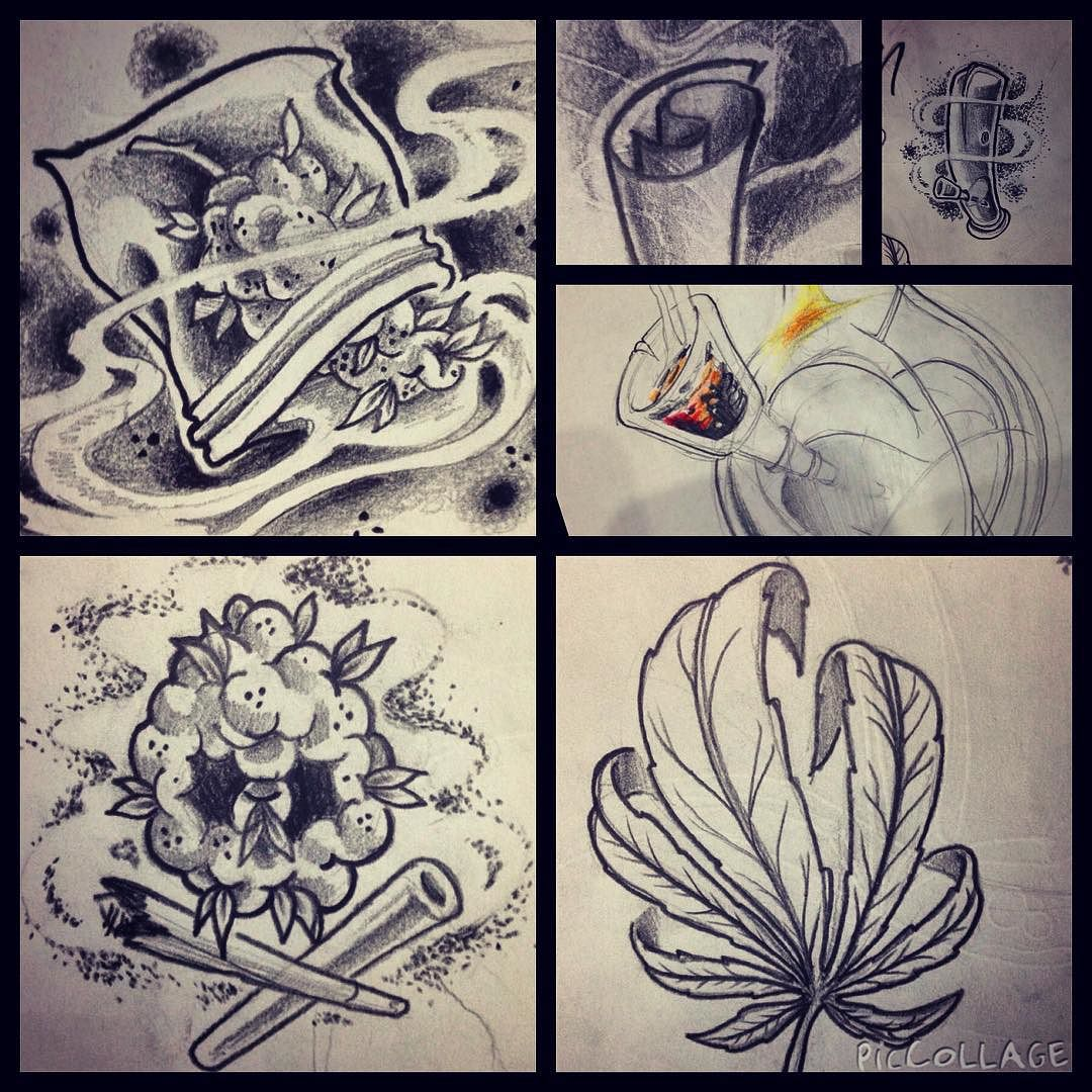 Weed Tattoo Designs For Men