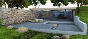 Making of sketchup  vray  stone house  cover