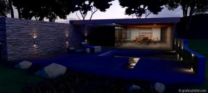 Making of  sketchup  vray  stone house 01