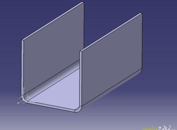 Catia v5 sheet metal design tutorial - fattore k