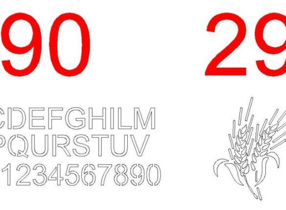 Disegni dwg plasma lettere e numeri disegni nuovi