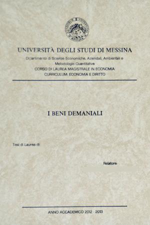 Tesi lauree Messina  Grafica Miloro