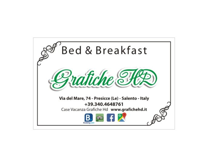 Biglietti da visita n1 categoria Bed and Breackfast