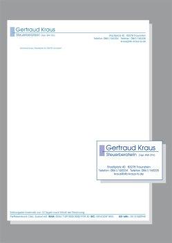 Briefpapier und Visitenkarte - Steuerbüro